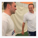 Josh with Andy Flower