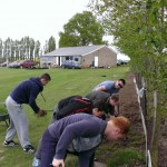 Prepare the Ground Day 2014 Hard graft re-pairing the edge of the boundary