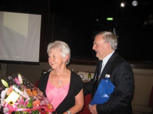 Mike & Shirley Receiving their award - Dinner & Dance 2014