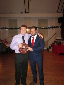 Ricky Dale receives 1st XI Captain's Award 2016 from Captain Lee Taylor