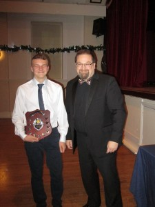 Ethan Collier receives 3rd XI Captains Award 2016 from Captain Eric Philips