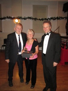 Shirley and Michael Lidstone receives an Outstanding Contribution to the Club Award from the Chairman
