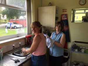 Julie and Lorraine clearing up after a great Fun Day