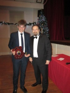 William Cosstick receives the 2017 3rd XI team award from 3rd Team Captain Adrian Philips