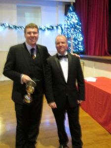 Ricky Dale receives the 2017 All Rounder Award from Vice President Steve Botting