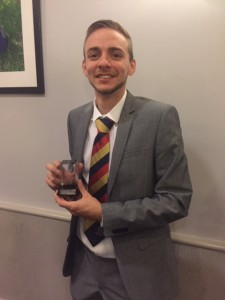 Rob Kennett received the 2018 Division 5 2nd XI Batting Award at the KCL Presentation evening