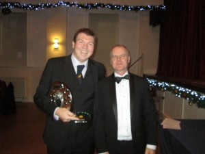 Ricky Dale receives the All-rounder Award 2019 from Vice President Steve Botting