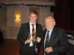 William Cosstick receives the Young Player of the Year Award 2019 from Vice President Mike Lidstone
